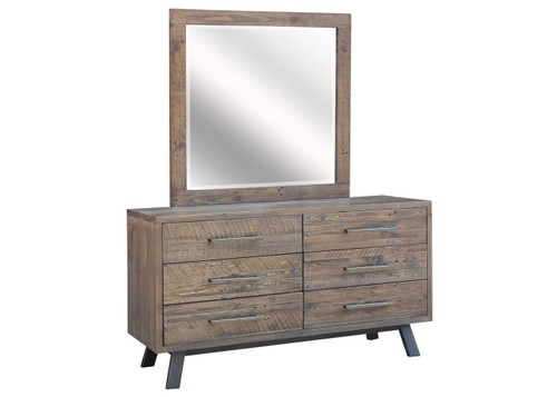 PATERSON 6 DRAWER DRESSING TABLE WITH MIRROR - HERITAGE WHARF