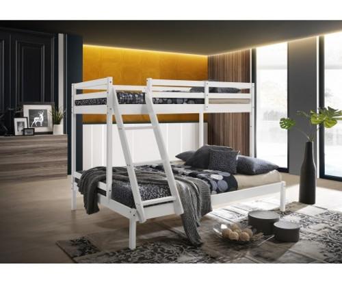 CELINA SINGLE OVER DOUBLE (TRIO) BUNK BED - WHITE