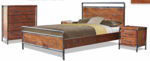 HARBOUR TUBE  KING  4 PIECE (TALLBOY) BEDROOM SUITE -  LIGHT ROUGH SAWN