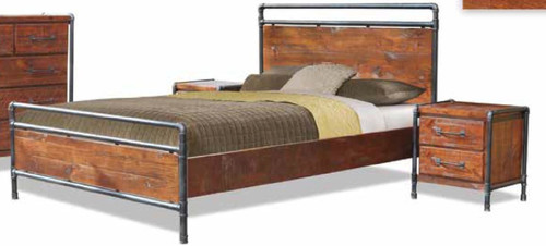 HARBOUR TUBE KING  3 PIECE (BEDSIDE) BEDROOM SUITE -  LIGHT ROUGH SAWN