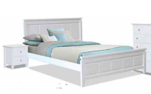 NOVENA DOUBLE OR QUEEN 3  PIECE (BEDSIDE) BEDROOM SUITE  - WHITE