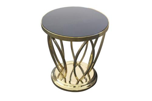 LOLITA ROUND SIDE TABLE - BRONZE / BLACK