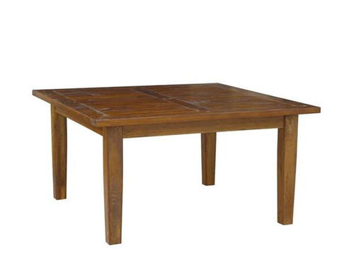 ANTICA  SQUARED TIMBER DINING TABLE - 1500 X 1500 - HONEY