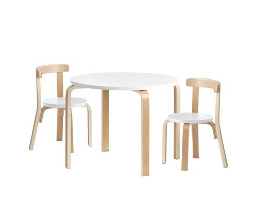 VANITY 3  PIECE KIDS DINING SET - WHITE  - FREE SHIPPING