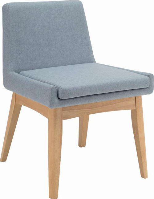 MAYA FABRIC DINING CHAIR - AQUAMARINE