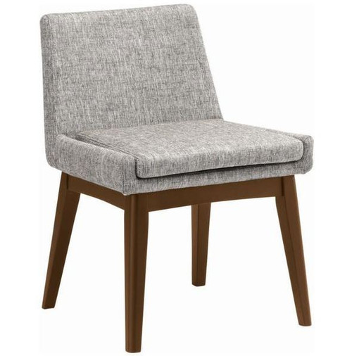 MAYA FABRIC DINING CHAIR - PEBBLE