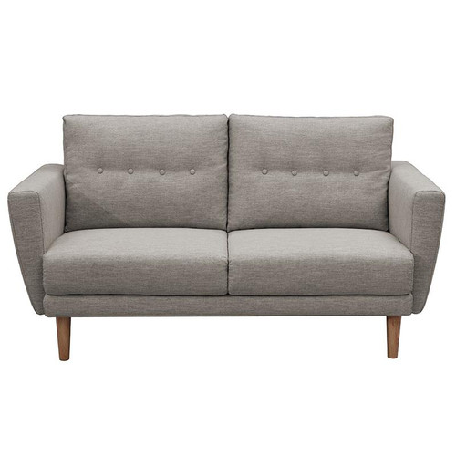 TANNER   3 SEATER  FABRIC SOFA LOUNGE - NATURAL / TAUPE GREY