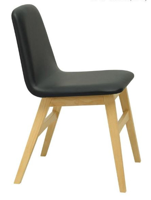 AVICE MODERN  DINING CHAIR (SET OF 2) - BLACK / NATURAL