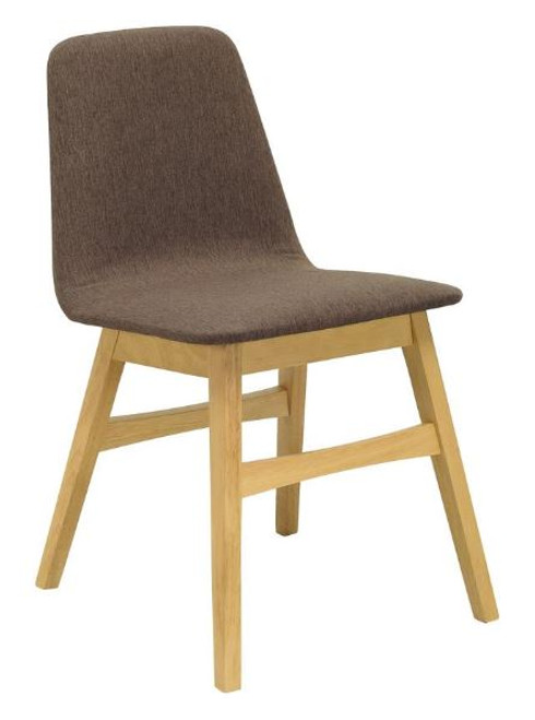 AVICE MODERN  DINING CHAIR (SET OF 2) - CHESTNUT / NATURAL