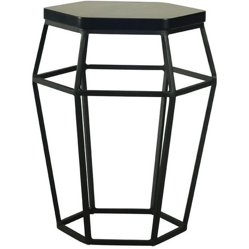 FORD  OCCASIONAL ROUND SIDE TABLE - BLACK