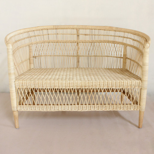 MOROCCO 2 SEATER   RATTAN CHAIR  - NATURAL