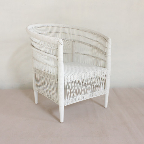 MOROCCO SINGLE  RATTAN CHAIR  - WHITE