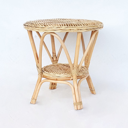 SOPHIA - RATTAN ROUND  TABLE  -NATURAL