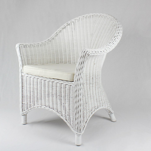 SCARLET CHAIR WITH CUSHION - WHITE