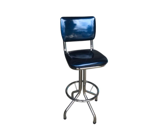SPARKLE SWIVEL BAR STOOL  WITH BACK - BLUE, GREEN, RED OR GOLD