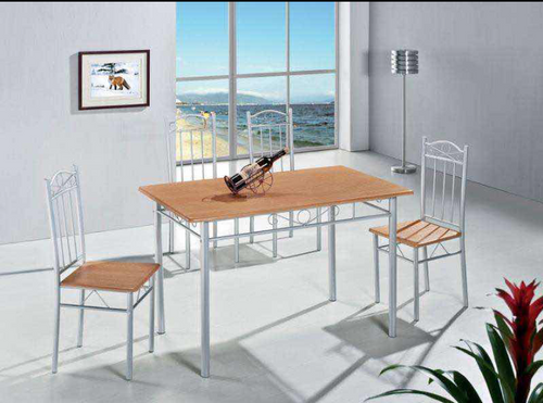 ARLINGTON  5 PIECE DINING SETTING WITH 1200(L) X 700(W) TABLE & 4X CHAIRS  - BEECH / WHITE