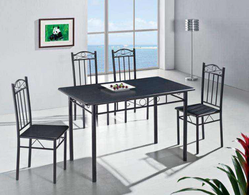 ARLINGTON  7 PIECE DINING SETTING WITH 1500(L) X 900(W) TABLE & 6X CHAIRS  - BLACK