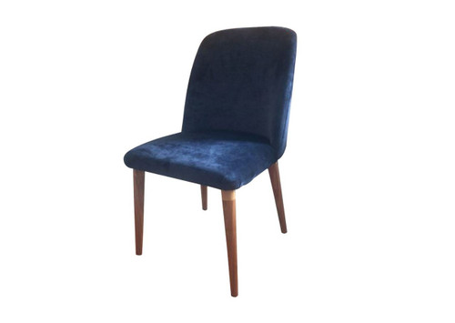 BELVETINE VELVET FABRIC CHAIR - NAVY