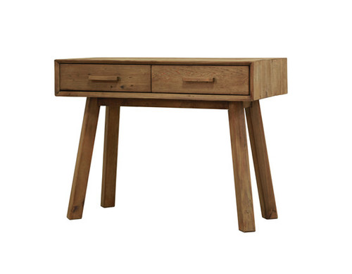 MANDALAY 2 DRAWER CONSOLE  TABLE  - RECYCLED SOLID TIMBER  - NATURAL