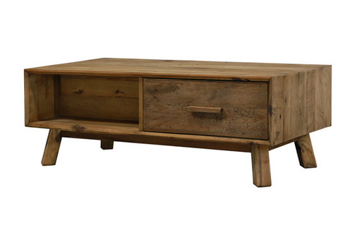 MANDALAY  RECYCLED COFFEE TABLE WITH DRAWERS   - NATURAL