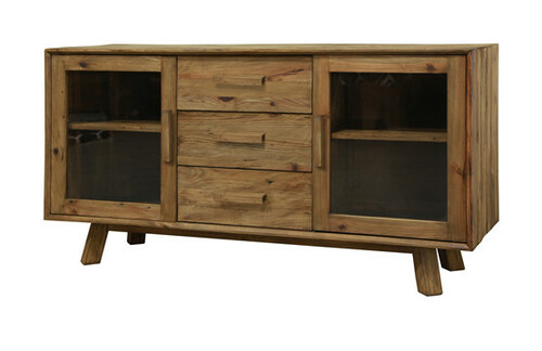 MANDALAY  RECYCLED BUFFET WITH 2 DOOR, 3 DRAWERS   - NATURAL