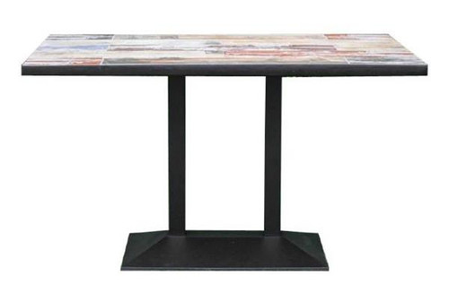 CAFE RECTANGULAR  CERAMIC TABLE WITH BASE - TYPE A 135(L) X 750(W) - AS PICTURED