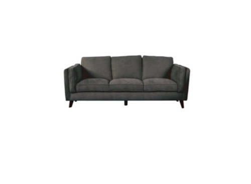 COPENHAGEN 3 SEATER FABRIC UPHOLSTERED SOFA - CHARCOAL