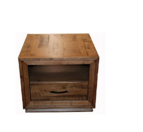 STANHOPE TASMANIAN OAK LAMP TABLE WITH ONE DRAWER - NATURAL