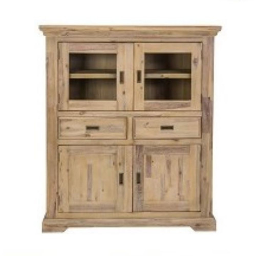 HAMPTON HARDWOOD 2 DOOR/ 2 DRAWER HIGH-BOARD  -  PASSADENA SANDBLAST