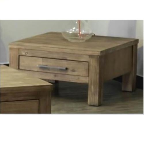 RUSTIC II HARDWOOD BUFFET WITH 1 DRAWER LAMP TABLE -  BRUSHED MOKA FINISH