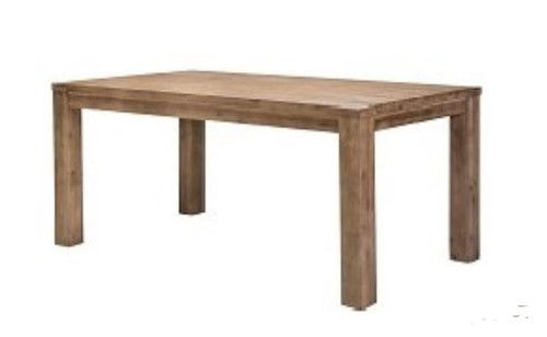 RUSTIC II HARDWOOD RECTANGULAR DINING TABLE - 2100(L) -  BRUSHED MOKA FINISH