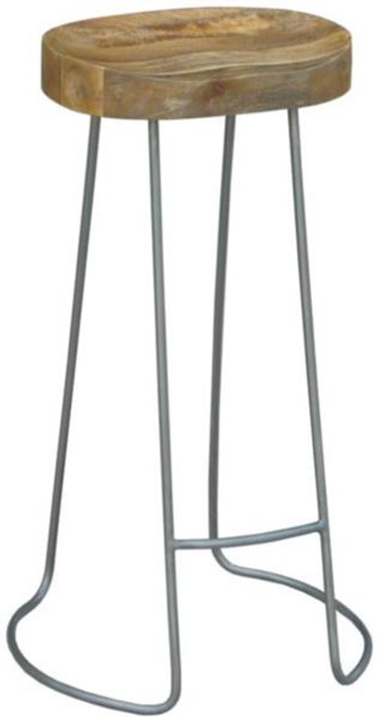 TRACTOR STOOL WITH METAL BASE 65 CM- NATURAL / GREY