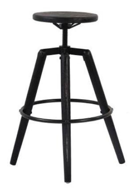 BUXTON ADJUSTABLE STOOL  575  -715 MM  HIGH - BLACK