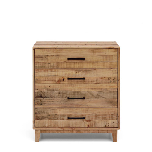 SMITHS  4 DRAWER TALLBOY   - (MODEL:17-16-18-20-12-1-14-4 ) - RUSTIC