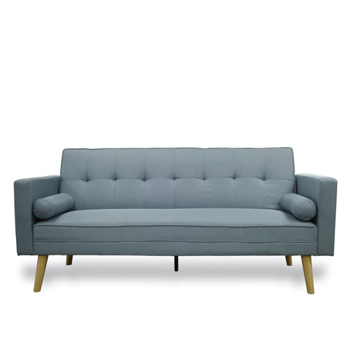 AMY FABRIC CLICK CLACK SOFA BED - AIRY BLUE OR GREY