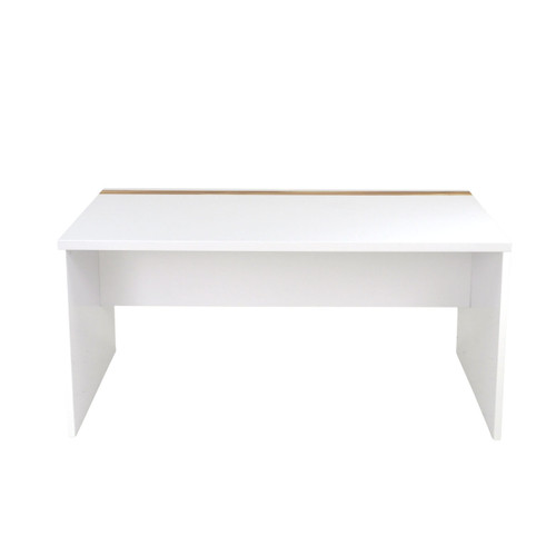 ABBEY WORK DESK 1500(L)  - GLOSS WHITE / CYPRESS
