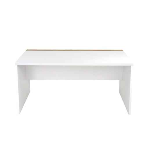 ABBEY WORK DESK 1500(L)  - GLOSS WHITE / CYPRESS