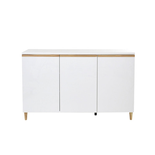 CARRIE 3 DOORS BUFFET - 900(H) X 1500(W) -  HIGH GLOSS WHITE / CYPRESS TRIM