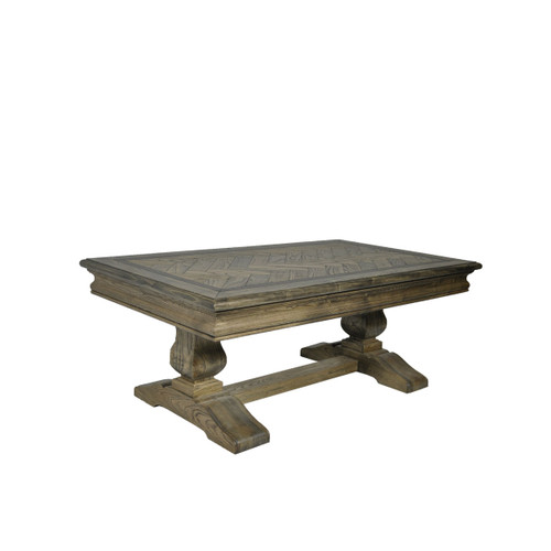 MOSAIC SQUARE REAL OAK TIMBER COFFEE  TABLE - ASH OAK