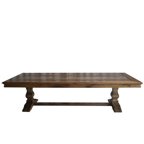 MOSAIC  REAL OAK TIMBER  2.1MDINING TABLE  - ASH OAK