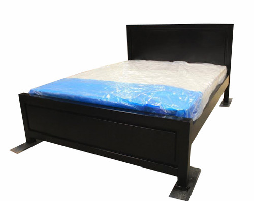 DOUBLE    RONDO  BED -  BLACK STAIN