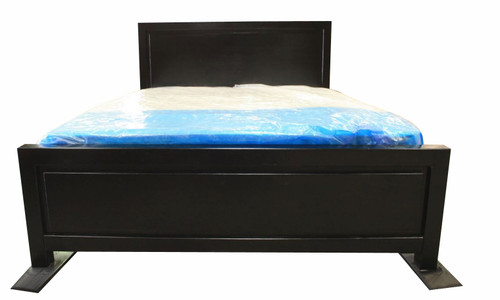 SINGLE  RONDO  BED -  BLACK STAIN