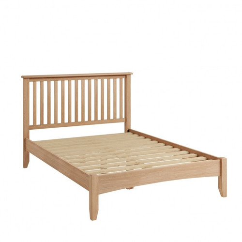 DOUBLE ELEGANCE OAK BED FRAME  (7-1-15) - LIGHT OAK