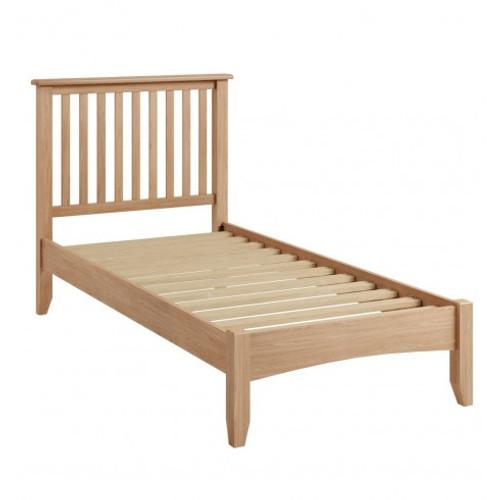 SINGLE ELEGANCE OAK BED FRAME  (7-1-15) - LIGHT OAK