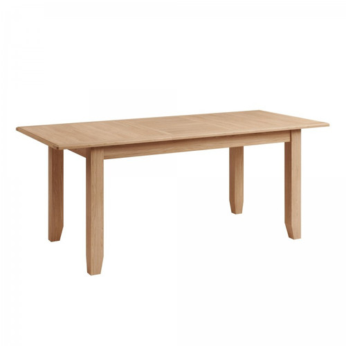 ELEGANCE  OAK EXTENSION  DINING TABLE 1600 - 2000 MM  (7-1-15) - LIGHT OAK