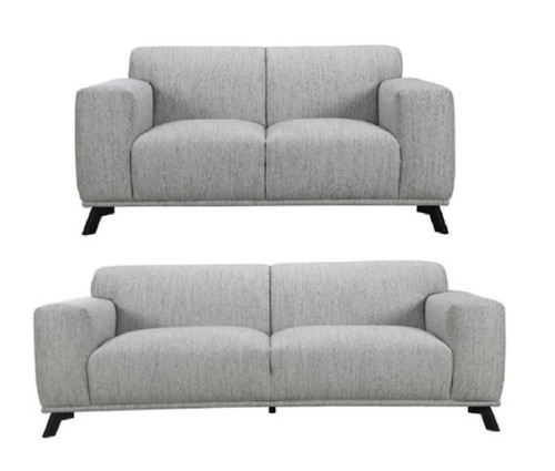 MONDO  3 SEATER  + 2 SEATER FABRIC LOUNGE  - NATURAL / BLACK