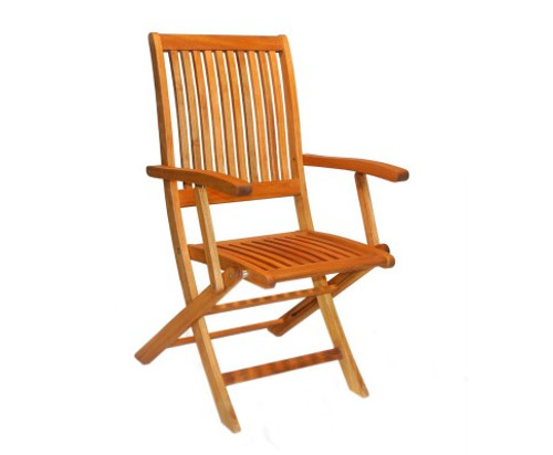 PANDA FOLDING OUTDOOR CHAIR WITH ARMREST - COLOR AS PICTURED