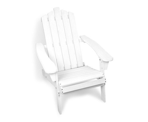 FIR FOLDABLE OUTDOOR CHAIR - WHITE