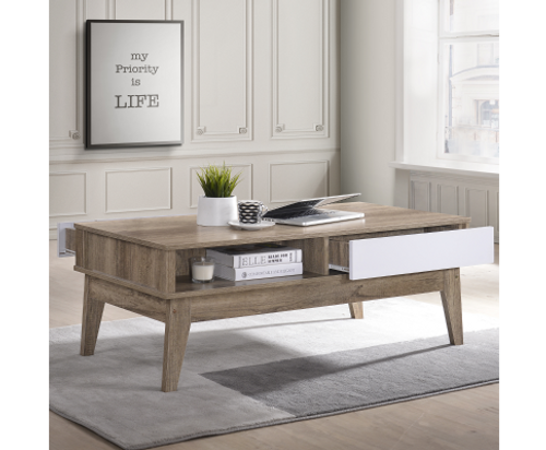 CANON COFFEE TABLE WITH DRAWER - 2 TONE