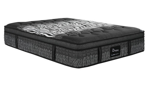 "DOUBLE ZEBRA 14"" ZEBRA EURO TOP POCKET SPRING + GEL INFUSED MEMORY FOAM ENSEMBLE (MATTRESS & BASE) WITH PREMIUM (SWB) BASE IN BLACK (NOT PICTURED) - MEDIUM FIRM"